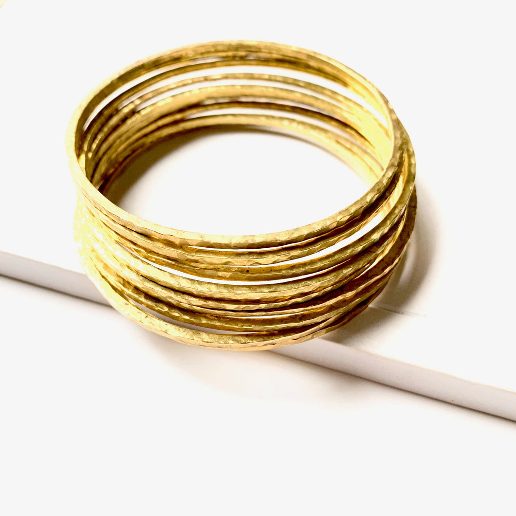 Hammered Done Bangle - La Mère Clothing + Goods