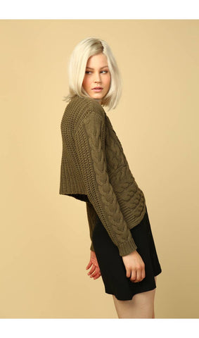 Vanessa Asymmetrical Cable Knit