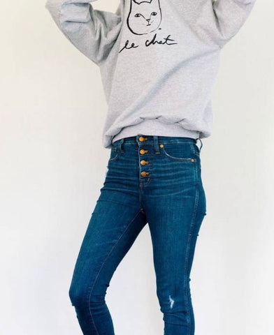Le Chat Sweatshirt - La Mère Clothing + Goods
