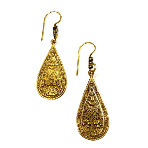 Nuru Brass Earrings - La Mère Clothing + Goods