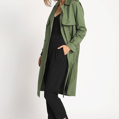 Double Breast Trench Coat - La Mère Clothing + Goods
