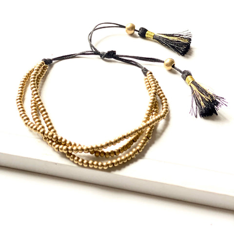 Aria Gold Adjustable Bracelet - La Mère Clothing + Goods
