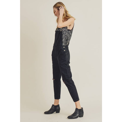 Distressed Overalls - La Mère Clothing + Goods