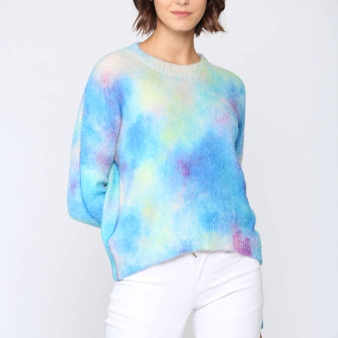 Rainbow Tie Dye Sweater - La Mère Clothing + Goods