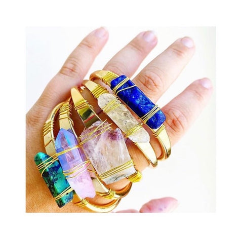 Gemstone Cuffs - La Mère Clothing + Goods