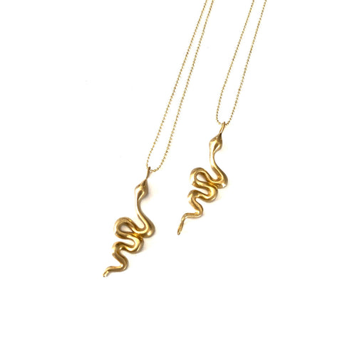 Snake Charm Necklace - La Mère Clothing + Goods