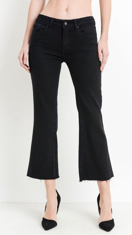 Scissor Cut Crop Flare Jeans - La Mère Clothing + Goods