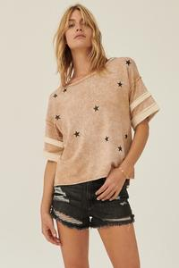 Taupe Star Tee - La Mère Clothing + Goods