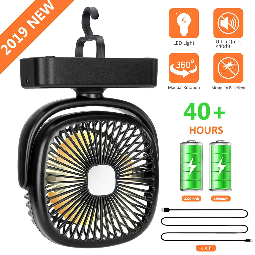 LED Camping Lantern with Tent Ceiling Fan
