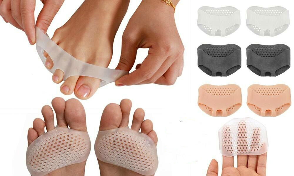 3 Pair Silicone Breathable Forefoot Insoles Metatarsal Pads Foot Cushion