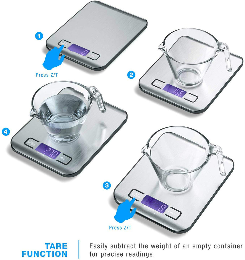 Stainless Steel Digital LCD Screen Kitchen Scale Food Scale
