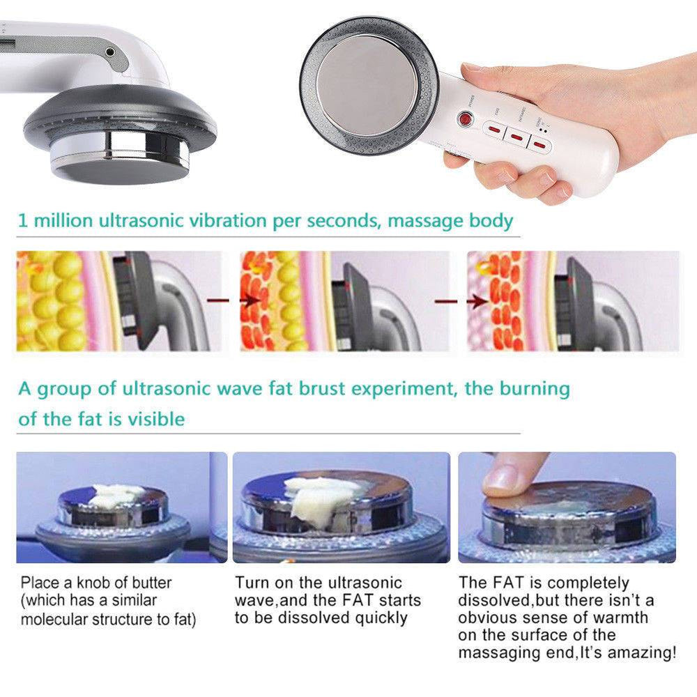 Ultrasonic 3in1 Ultrasound Cavitation Care Face Body Slimming Beauty Massage