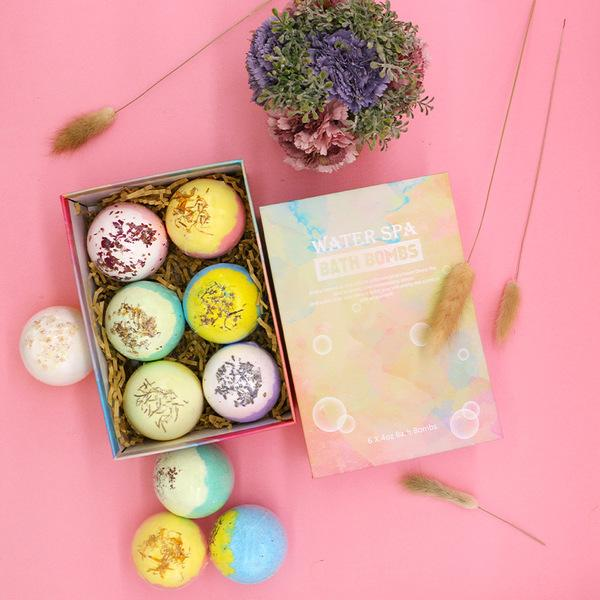 6 Pcs Bath Bomb Gift Set Natural Bath Supplies - shopmeko