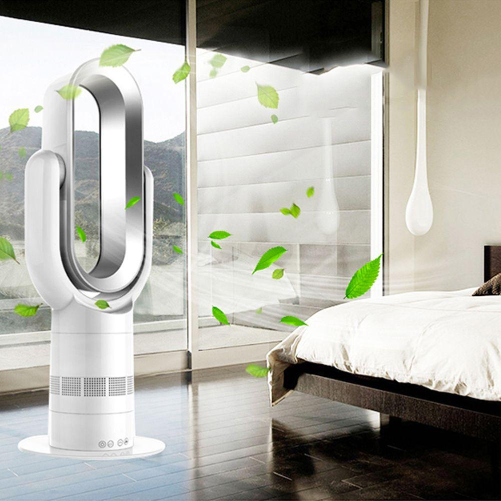 Bladeless Fan Remote Control Hot+Cool Fan Heater Air Purifier Fan