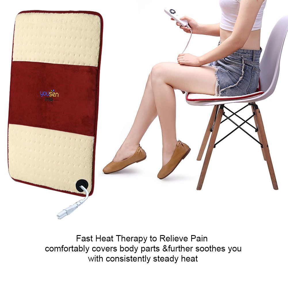 Electric Heating Pad For Shoulder Neck Back Spine Legs Feet Pain Relie Wishwhooshoffers