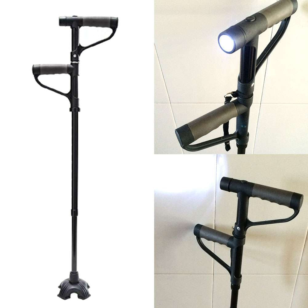 LED Folding Walking Stick Hurry Cane
