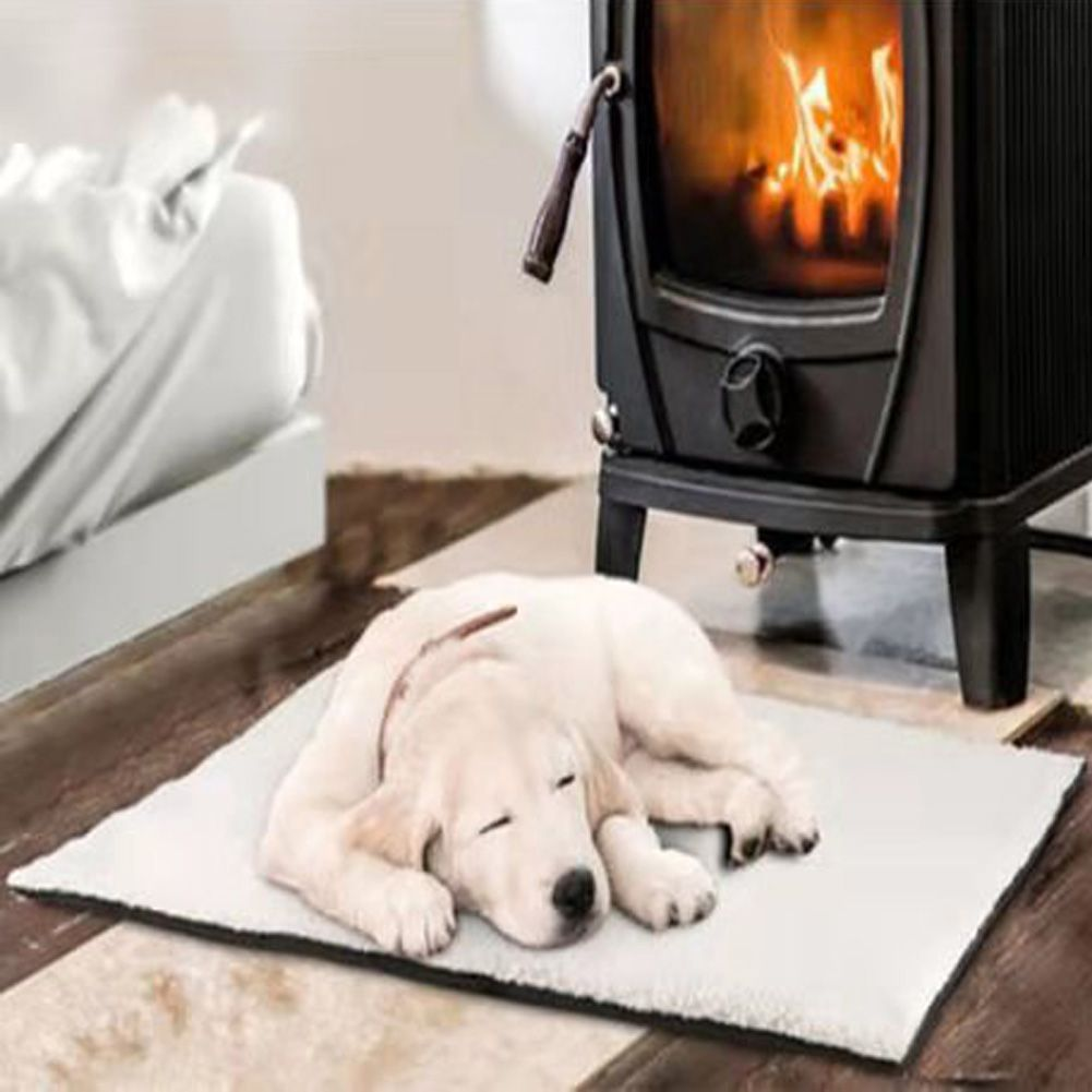 Self Heating Pet Blanket Pad Warm Thermal Rug