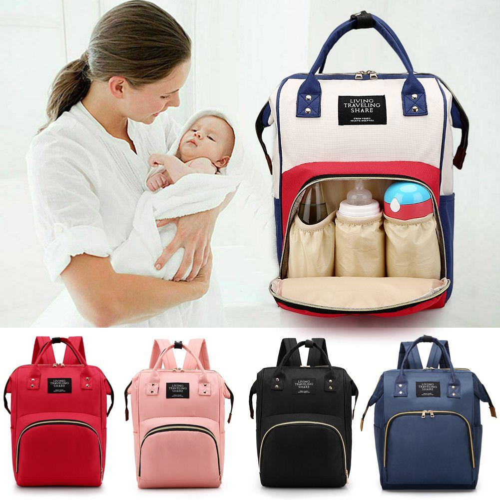 Luxury Multifunctional Baby Diaper Nappy Backpack Waterproof Changing Bag