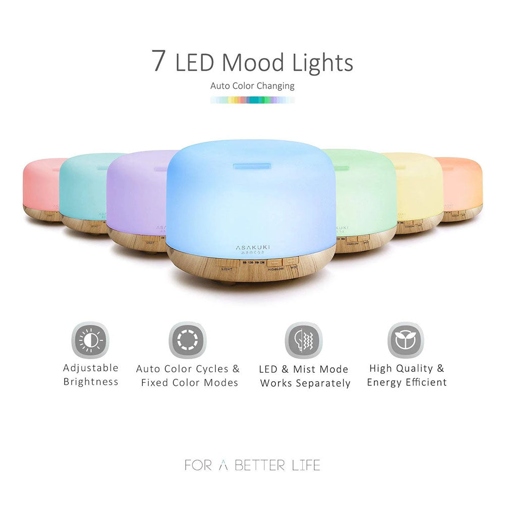 7 LED Light Ultrasonic Essential Oil Diffuser Humidifier
