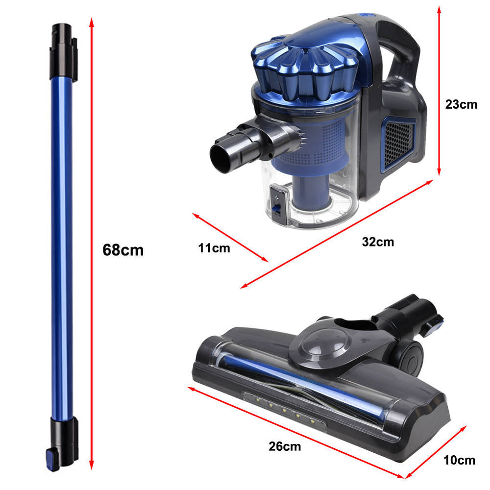 Cordless Convertible Vacuum Cleaner with LED Motor Brush Handheld
