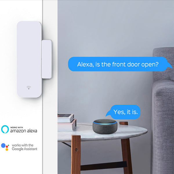 Wireless Wifi Smart Home Door Window Gap Sensor App Alarm For Alexa Google