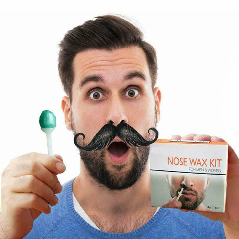 Nose Ear Hair Removal Wax Kit Painless & Easy Mens Nasal Waxing