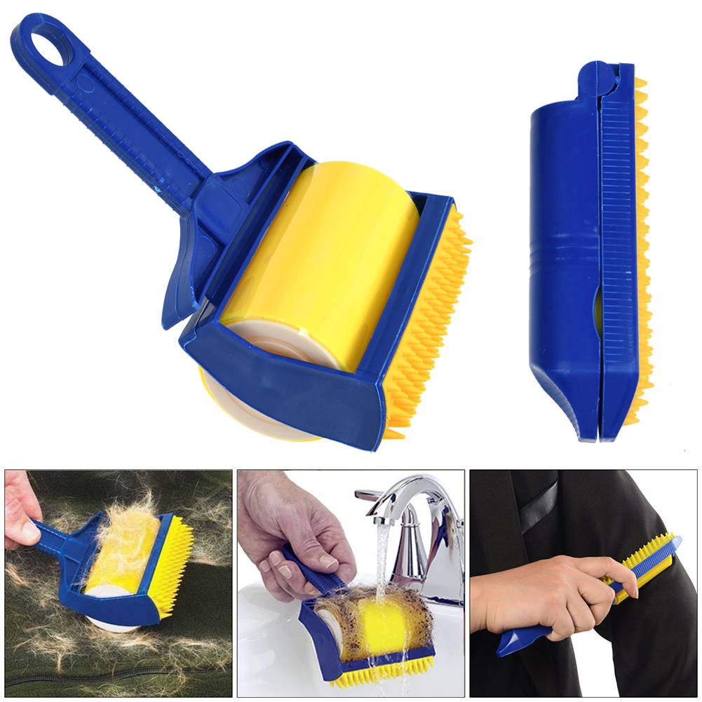 Reusable Sticky Picker Cleaner Lint Roller Pet Hair Remover Brush Tool