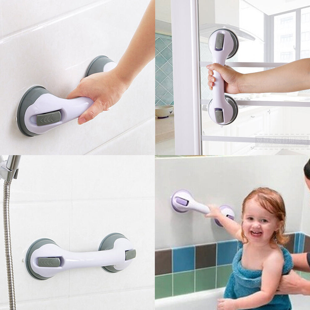 4 Pcs Super Suction Cup Handrail Bathtub Bathroom Shower Grab Bar Handle