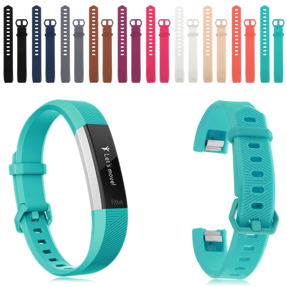 3 Pack Silicone Replacement Strap Watch Bracelet For Fitbit Alta HR