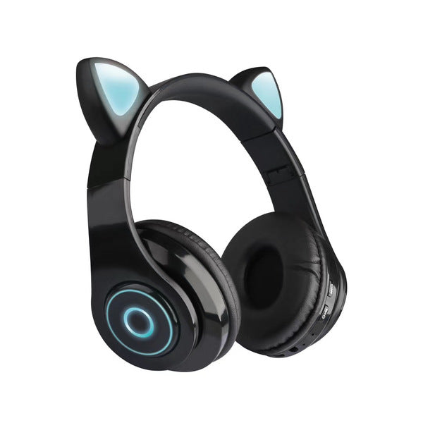 Foldable Wireless Bluetooth Headphones Headset with LED Light