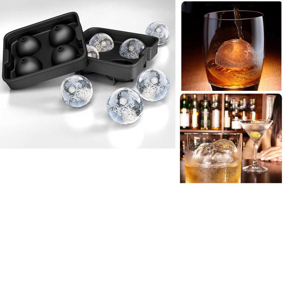 Flexible Silicone Whiskey Ice Ball Maker Ice Tray