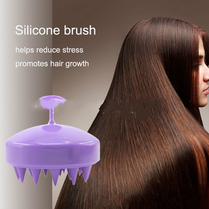 Silicone Scalp Massage Brush Washing Hair Comb