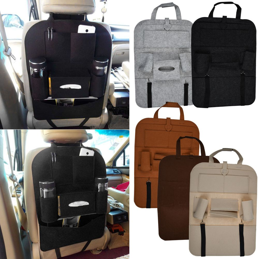Auto Car Seat Back Multi-Pocket Storage Bag Organizer
