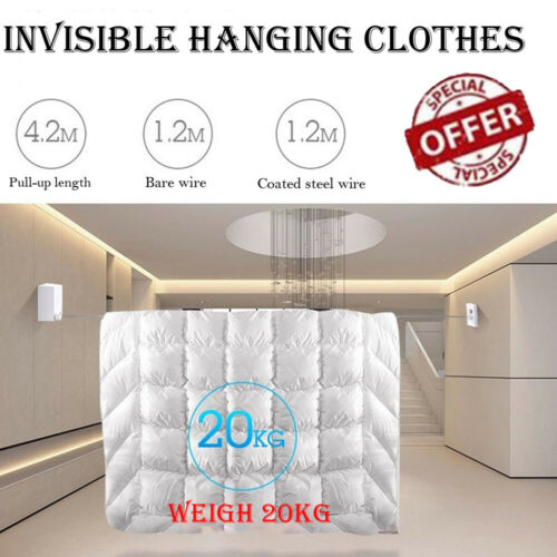 Retractable Clothes Wall Hanger Indoor Drying Rack