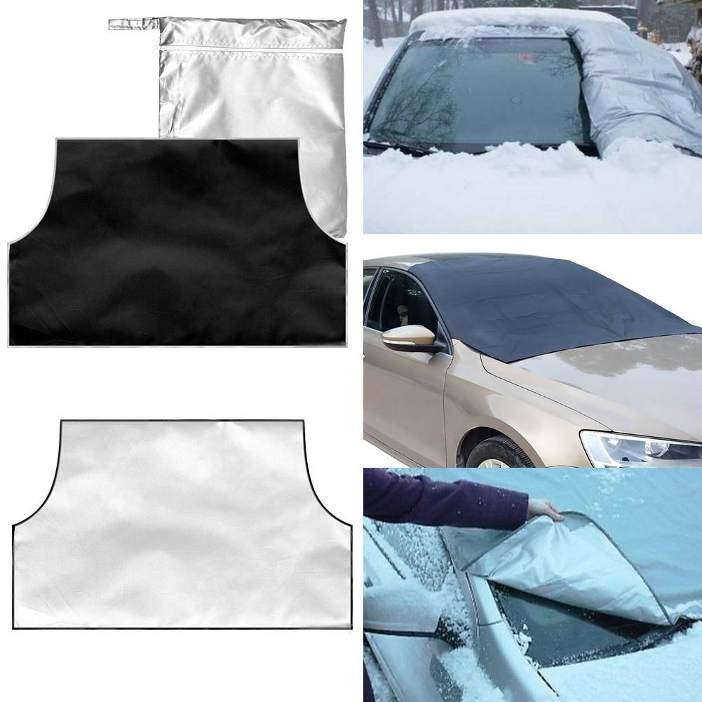 Magnetic Car Windscreen Cover Sun Shade Shield Dust Snow Ice Frost Protector - shopmeko