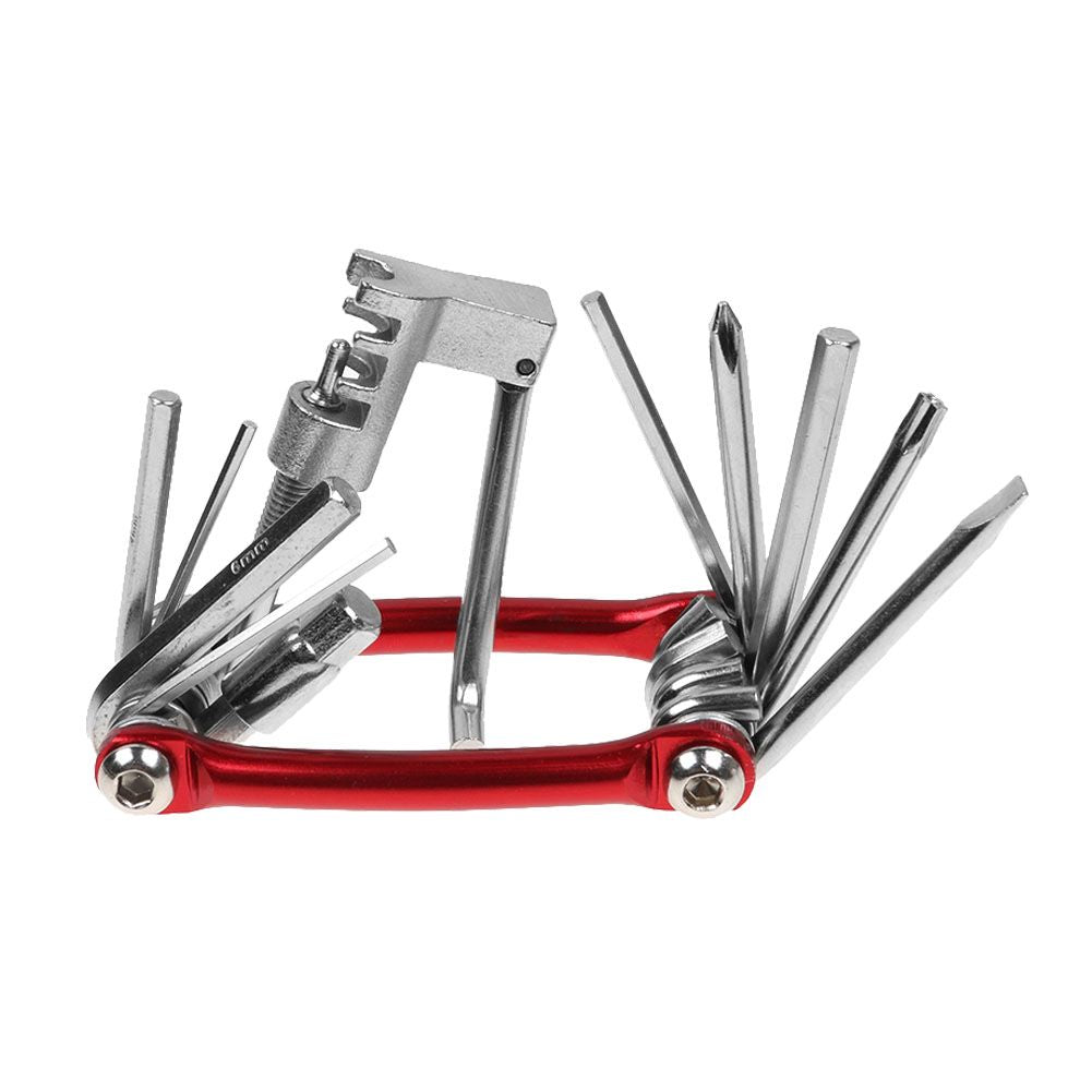 11 in 1 Multi Tool Bicycle Bike Allen Hex Keys Screwdriver Chain Tool