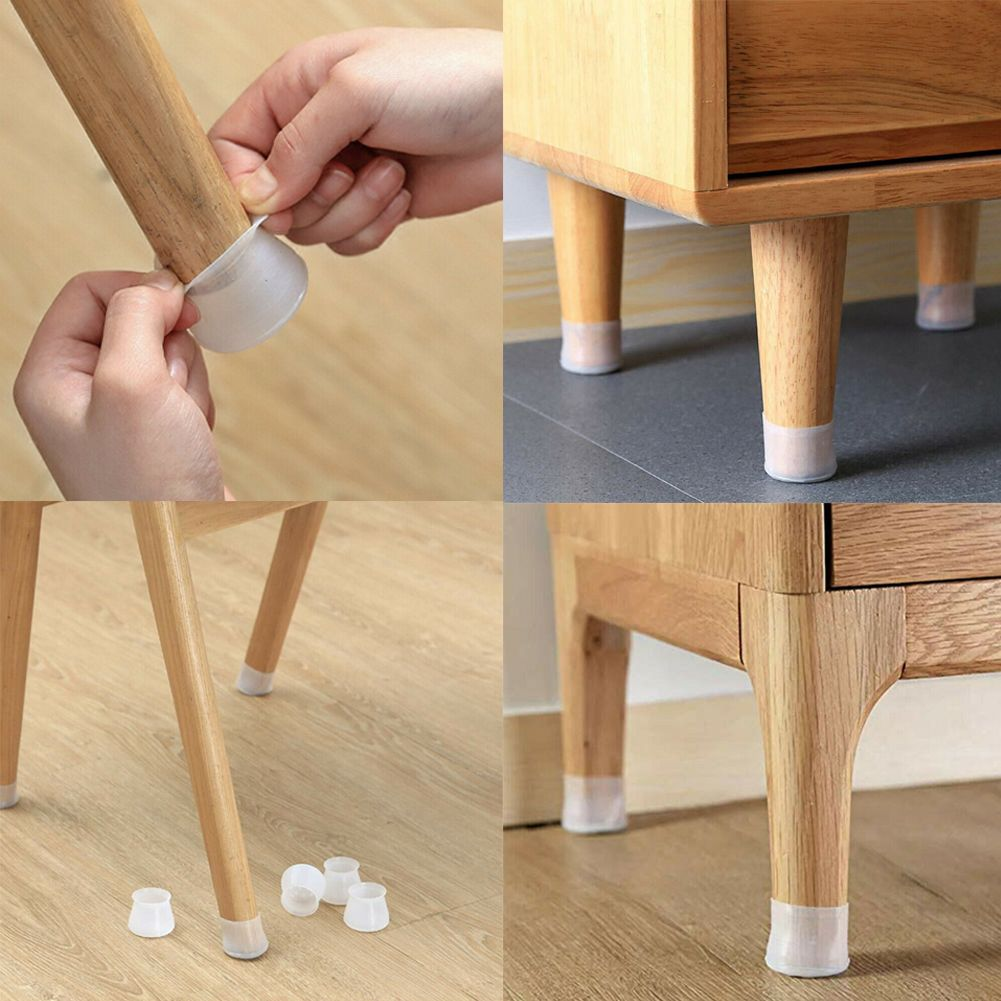 16PCS Silicone Chair Leg Cap Pad Furniture Table Cover Floor Protector
