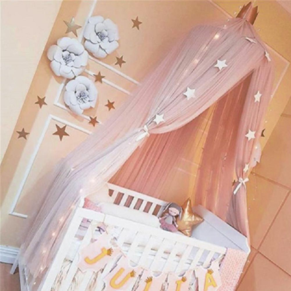 Kids Baby Bed Canopy Netting Bedcover Mosquito Net Curtain