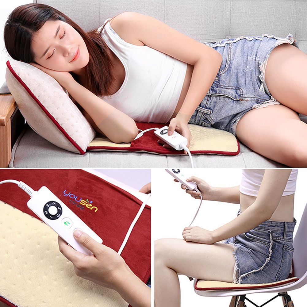 Electric Heating Pad For Shoulder Neck Back Spine Legs Feet Pain Relief Mat