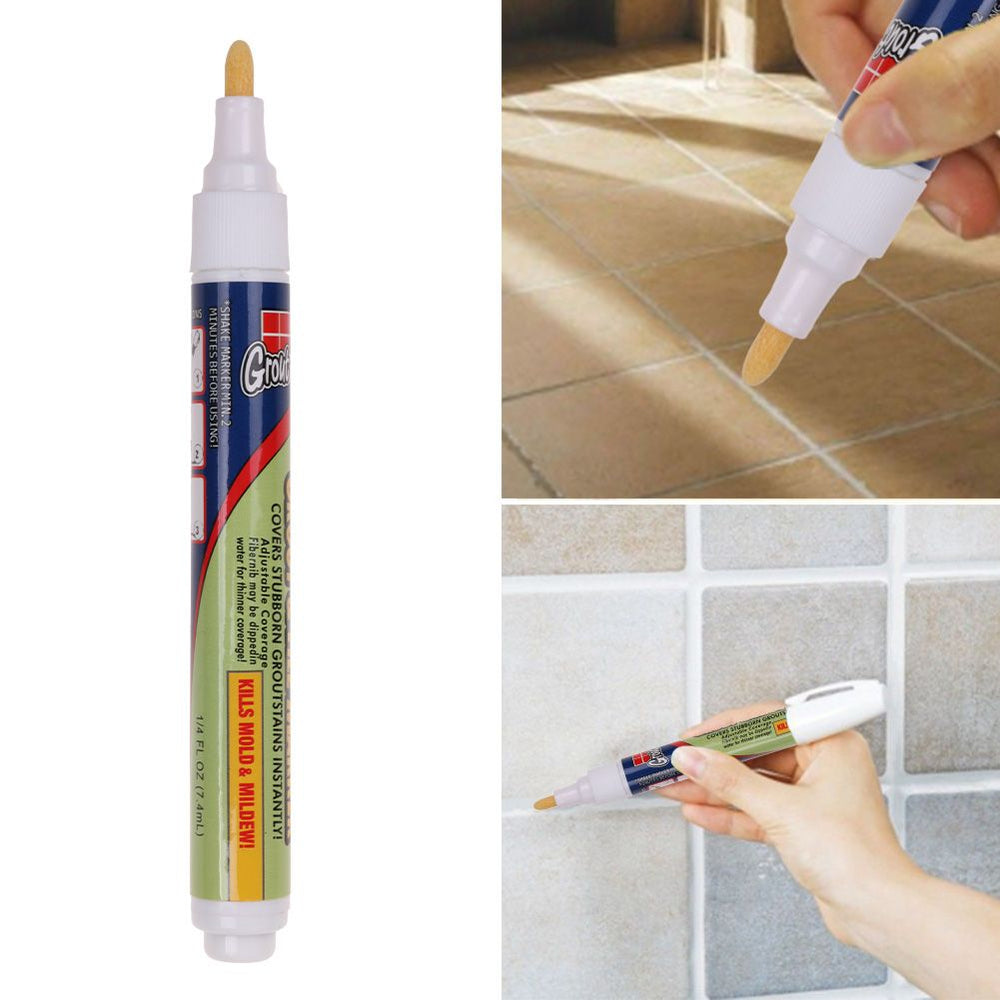 4 Pack Marker Tile Marker White Grout For Tiles Floor Repair Wall Pen