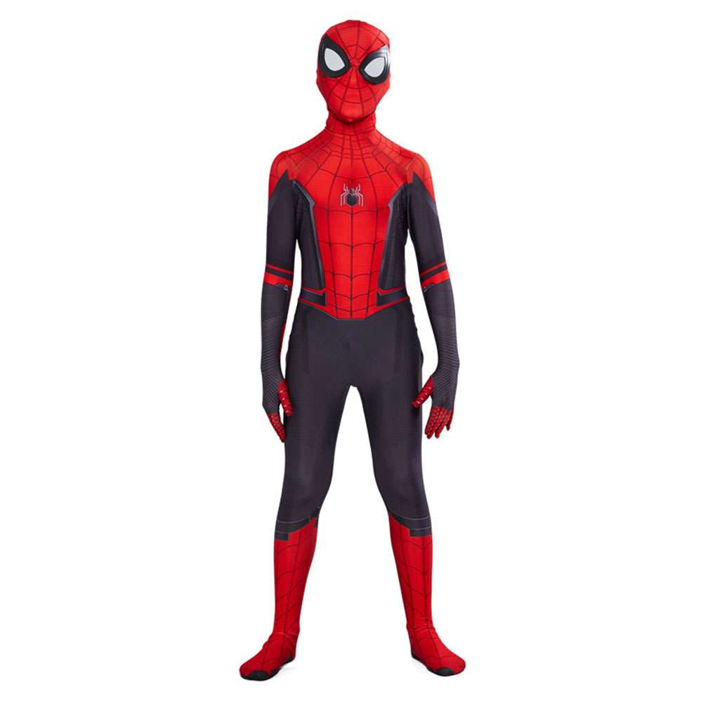 Spider-Man Far From Home Adult Kids Peter Parker Zentai Cosplay Costume