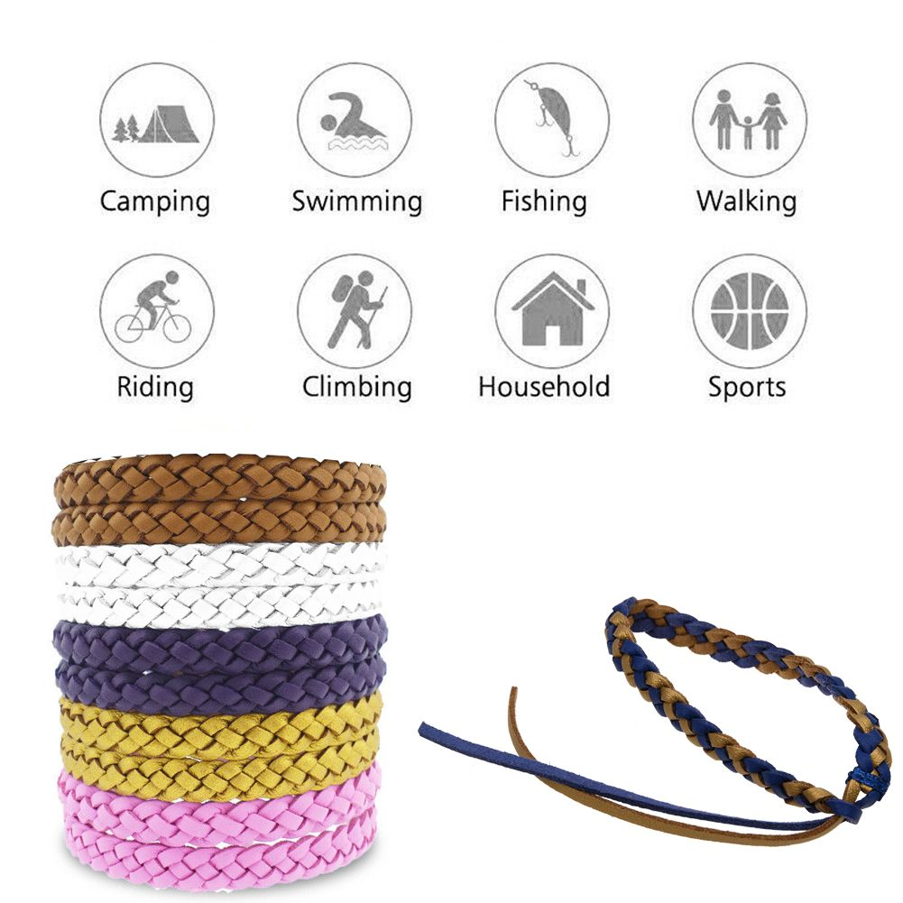 Mosquito Repellent Bracelet Stylish Leather Bands