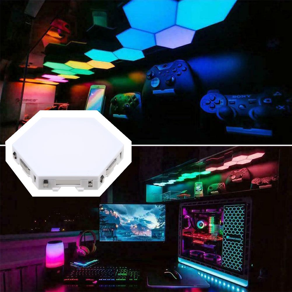 Hexagonal Wall Light, Touch Sensitive Modular Light,DIY Lights Creative