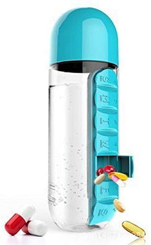 600ML Outdoor Pill Box Water Bottle