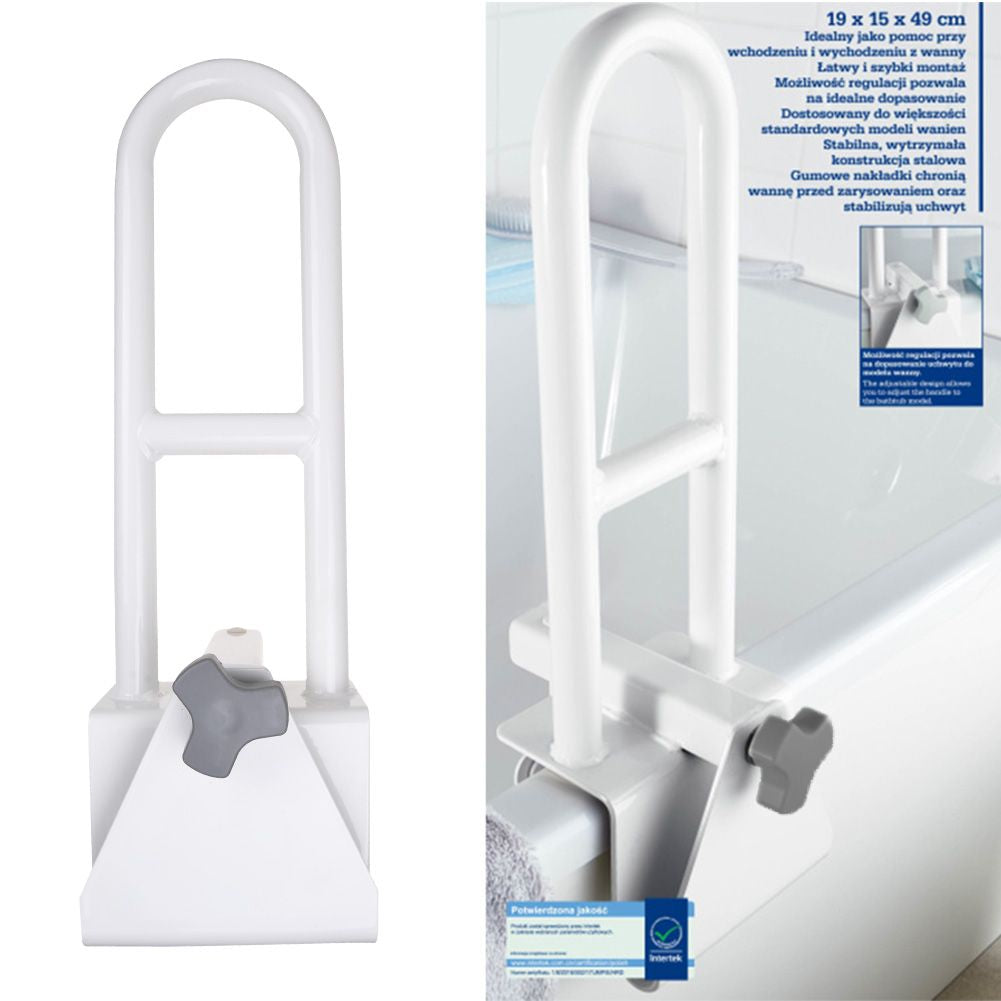 Bathtub Safety Rail Bathroom Grab Bar Adjustable Hand Handle Tub Support