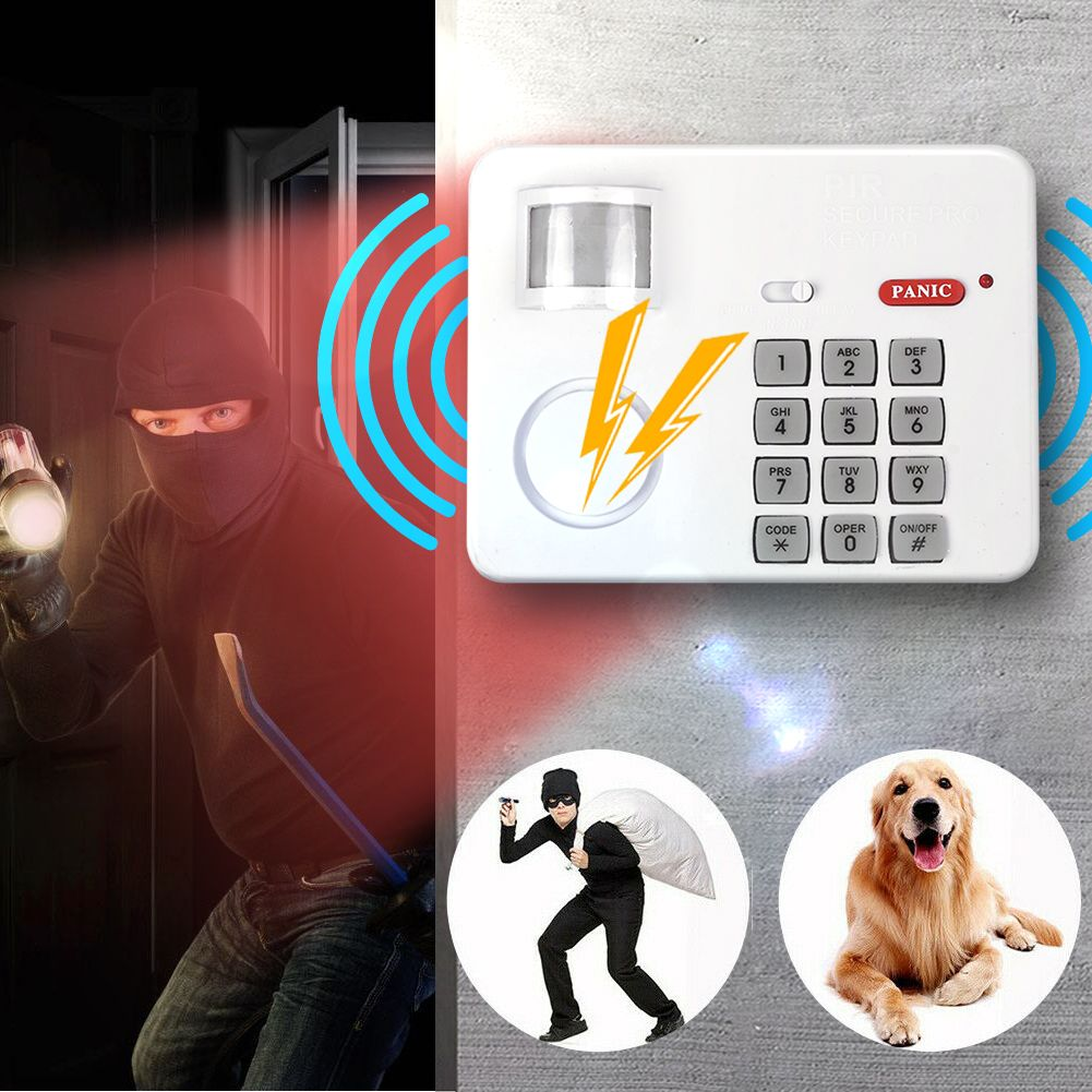 Wireless Door Window Motion Sensor Alarm With Security Keypad Pir