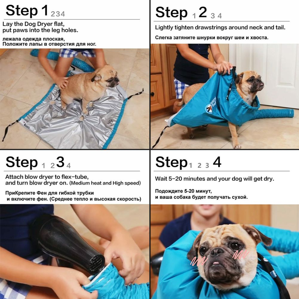Pet Dog Dryer Fast&Easy After Bath Drying Tool