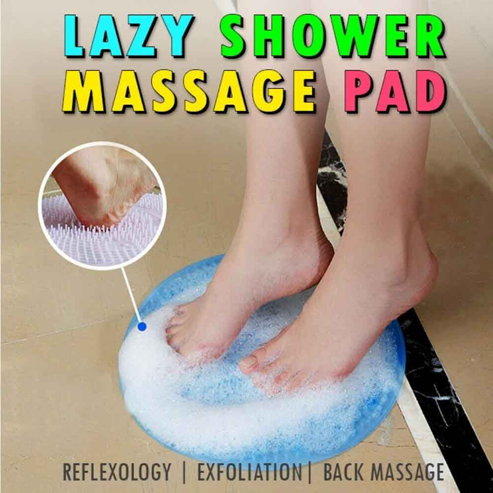 Lazy Bath Massage Pad Silicone Suction Cup Bathroom Shower Non-slip Mat
