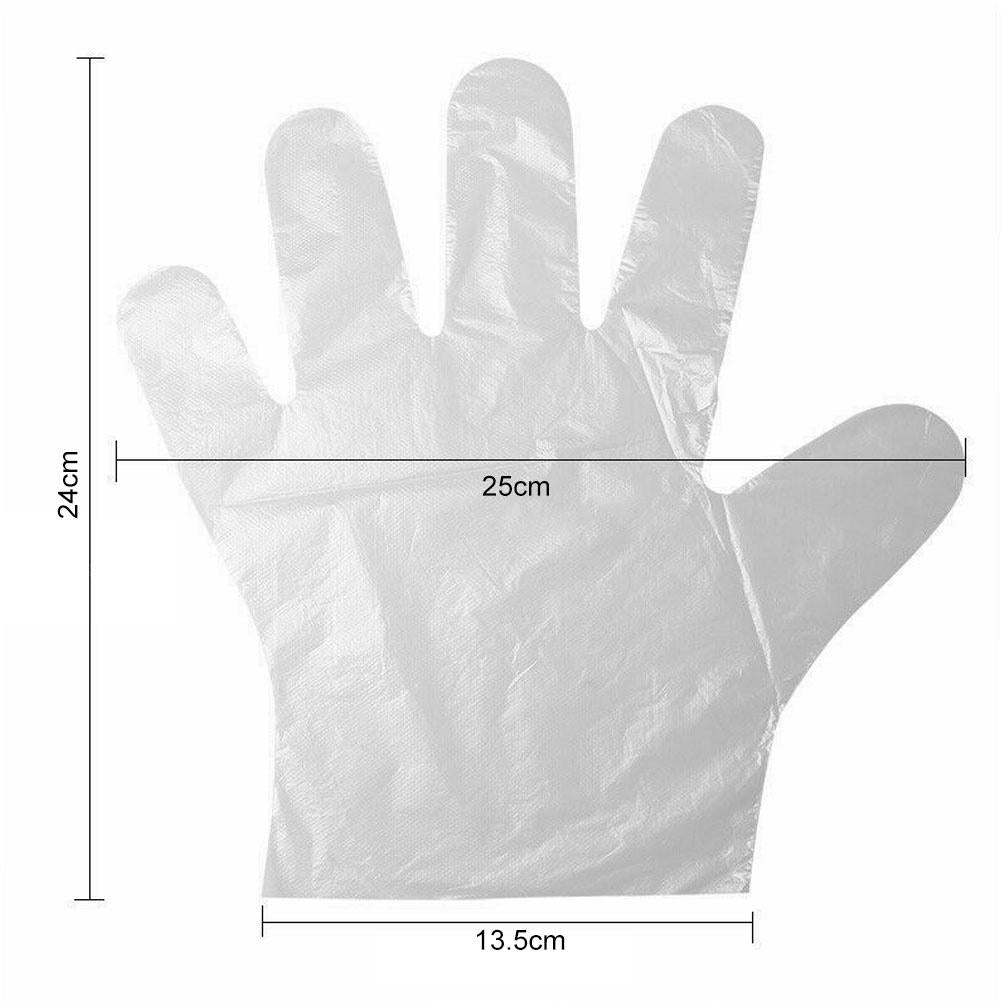 300pcs Plastic Disposable Disposable Safety Glove