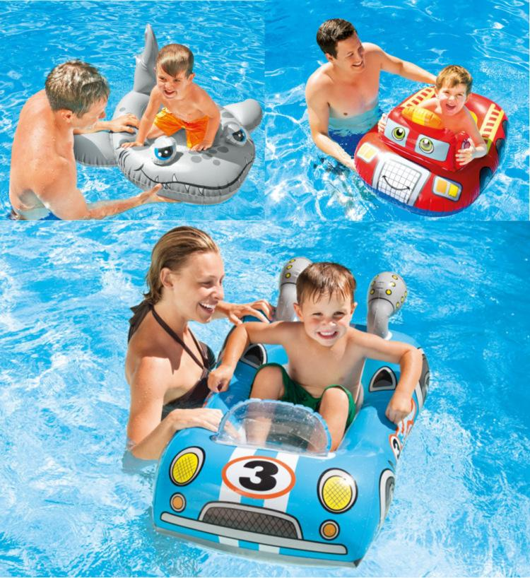 Summer Children Baby  Swimming Ring Float Outdoor Seat Cartoon Lifebuoy Inflatable Floats